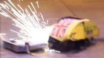 RC Combat Robot Wars – Wedgie v Night Fury v Galactus – 2014 UK Fighting Robots FW Champs Q7 #6
