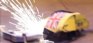 RC Combat Robot Wars – Wedgie v Night Fury v Galactus – 2014 UK Fighting Robots FW Champs Q7 #6